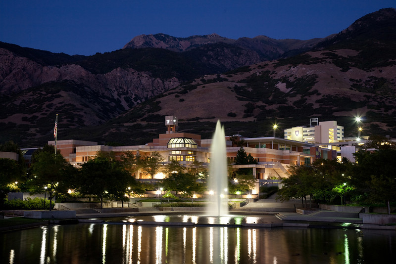 WSU at night