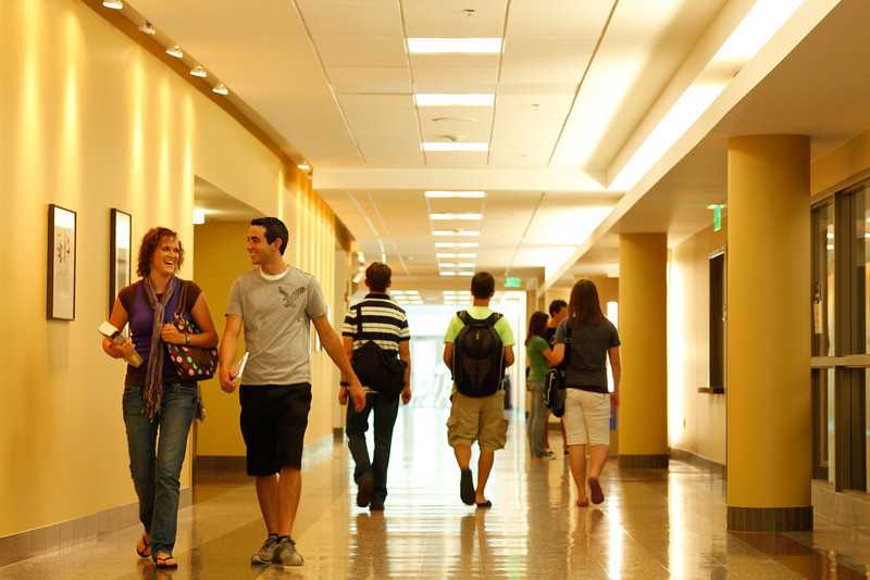 Students walking halls at WSU